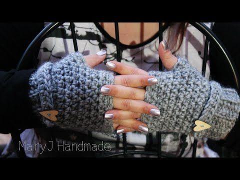Mezzi guanti super facili e veloci all'uncinetto - YouTube