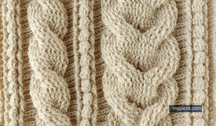 MyPicot | Free crochet patterns - Diagram + step by step instructions - how to crochet cables