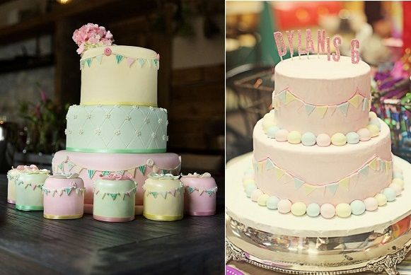 these baby shower cakes are so elegant!
