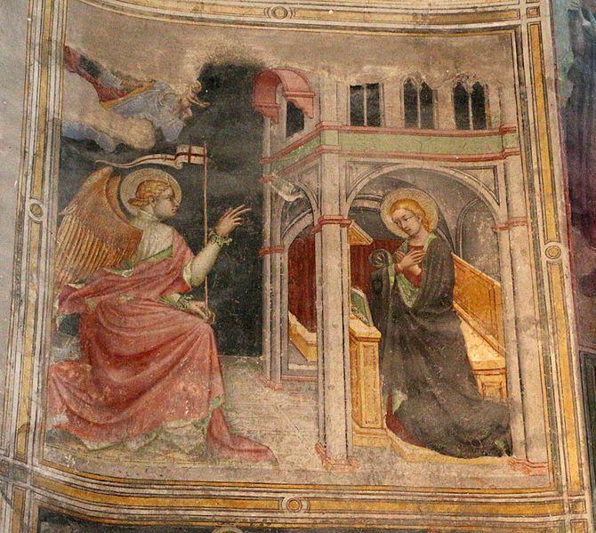 Ottaviano Nelli e bottega - Annunciazione - 1410-15 circa - Chiesa di San Francesco, Gubbio