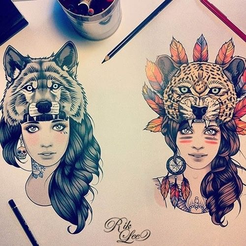 the left one as rose and instead of the skull her earring will be son