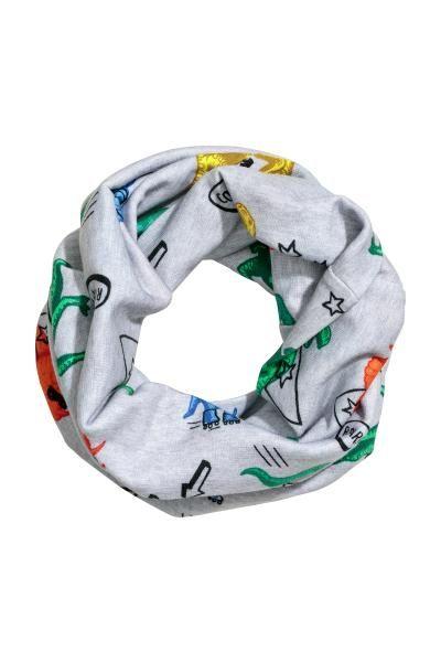 24abbc681d Jersey tube scarf - Light grey Dinosaurs -