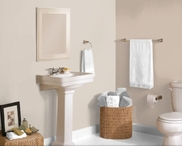 Bathroom Paint Colors Sherwin Williams Left Wall 6064 Reticence Right Wall 6065 Bona Fide