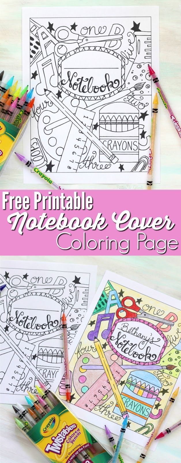 Nico the unicorn coloring pages - Back To School Notebook Cover Printable Coloring Page This Printable Coloring Page Is