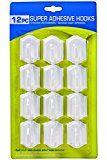 12x autoadhesivo Super Stick blanco clavos de pared ganchos para colgar cinta adhesiva de doble cara. - http://themunsessiongt.com/12-x-autoadhesivo-super-stick-blanco-clavos-de-pared-ganchos-para-colgar-cinta-adhesiva-de-doble-cara/