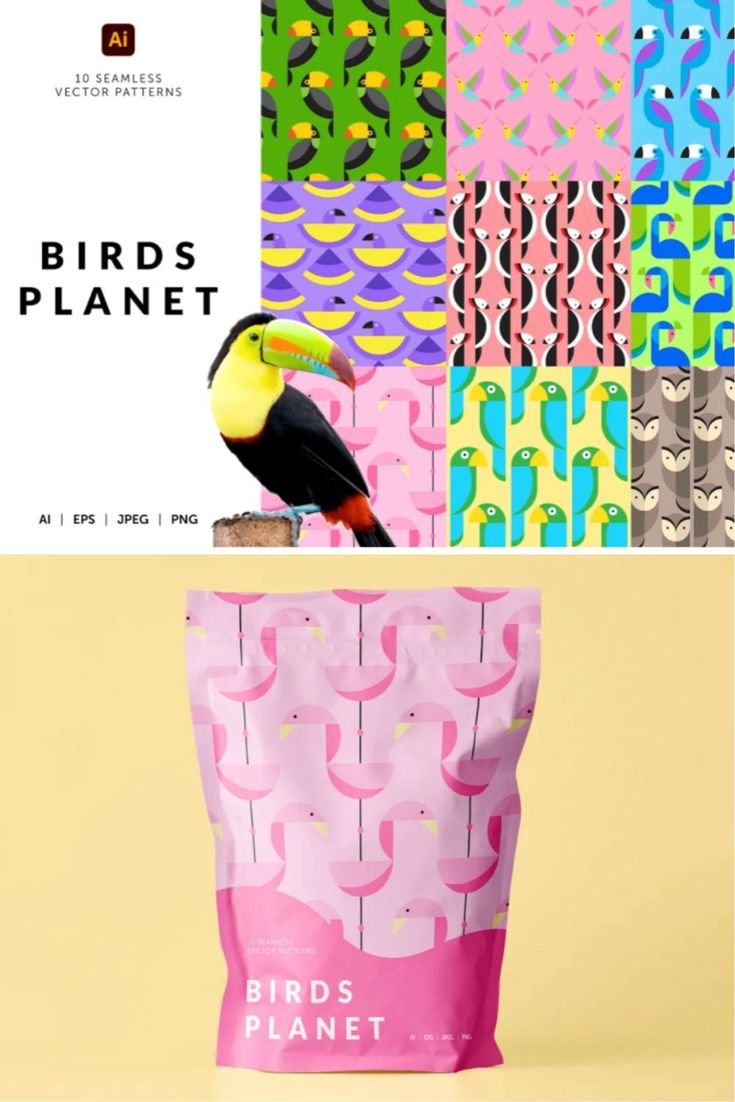 Birds Planet Geometric Patterns