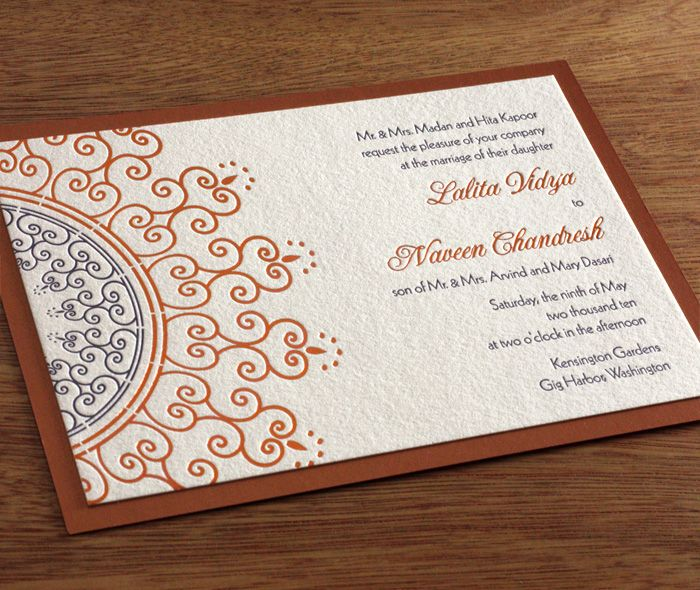 lalita letterpress wedding invitation by invitations by ajalon