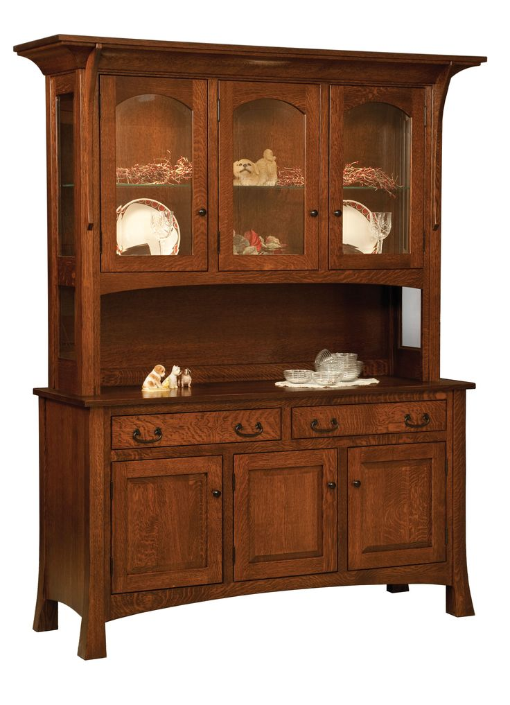 The Breckenridge 3 Door Hutch Is Shown In Quarter Sawn White Oak With An Asbury Stain