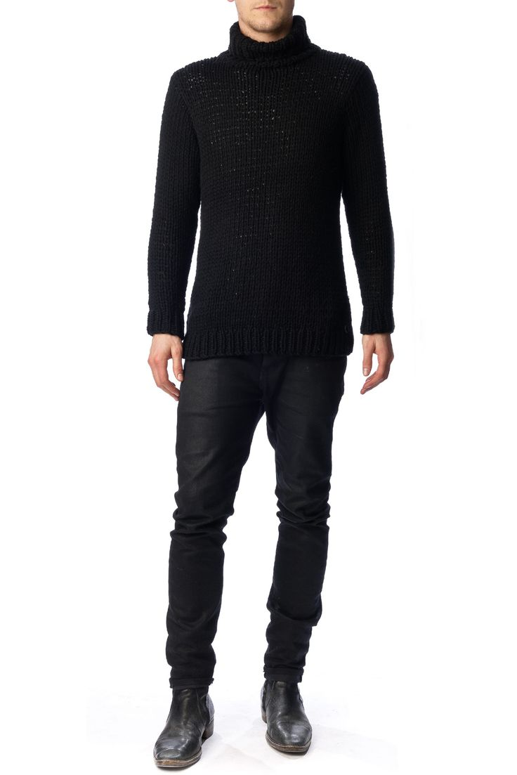 NEUW - Roll Neck Knit Black