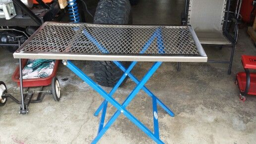 Portable Welding Table Holds Up To 500 Lbs Powder Coated Legs Great