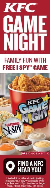 These days, we are into a new I Spy game that we got from - are you ready? - KFC. Find the nearest KFC to have a fun-filled family game night tonight! #HowDoYouKFC #food #family #gamenight #parenting