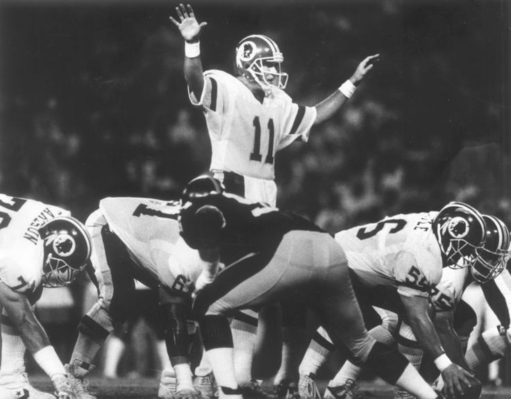 Redskins quarterback Mark Rypien calls signals in an August 5, 1988 preseason game against the Pittsburgh Steelers, a 44-31 loss