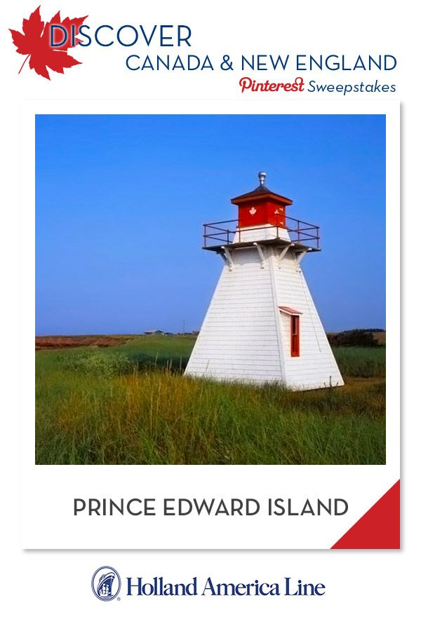 If Prince Edward Island is your favorite Canada/New England destination, enter the @HALCruises Discover Canada & New England Pinterest Sweepstakes for your chance to win a 500.00 American Express gift card.