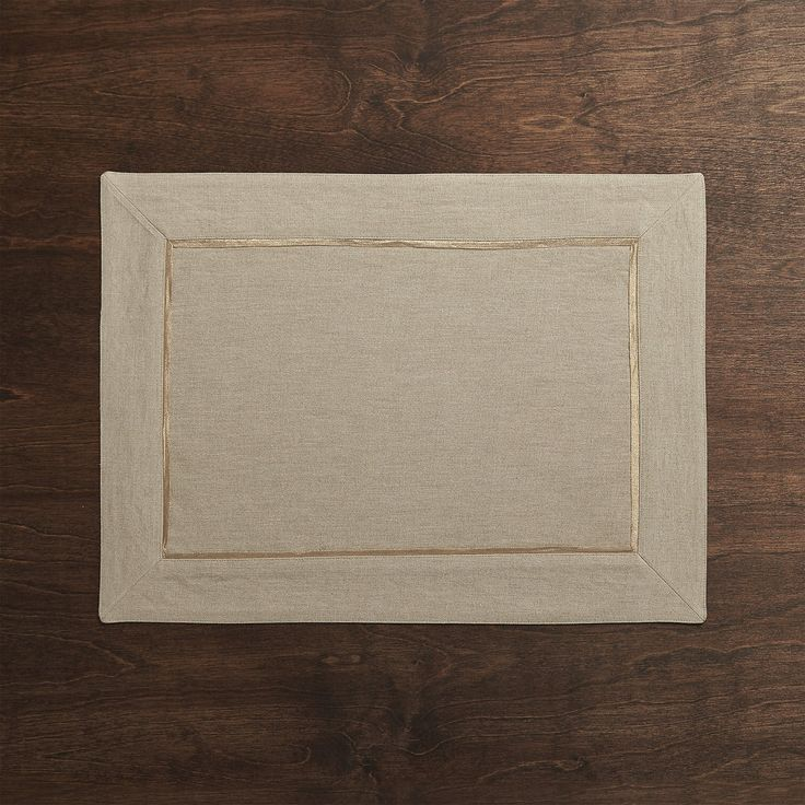Dalton Neutral Placemat | Crate and Barrel