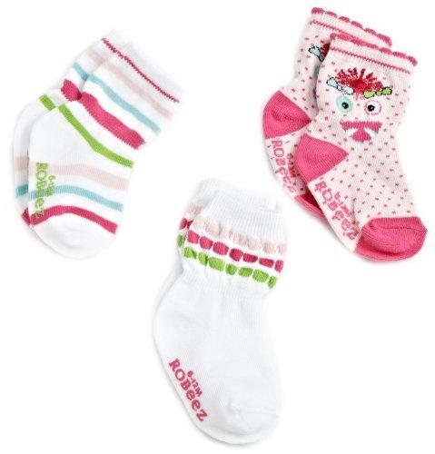 Robeez Baby-Girls Newborn 3 Pocket Monster Sock