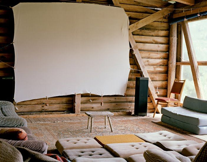as rustic as a home theatre gets. i love it!
