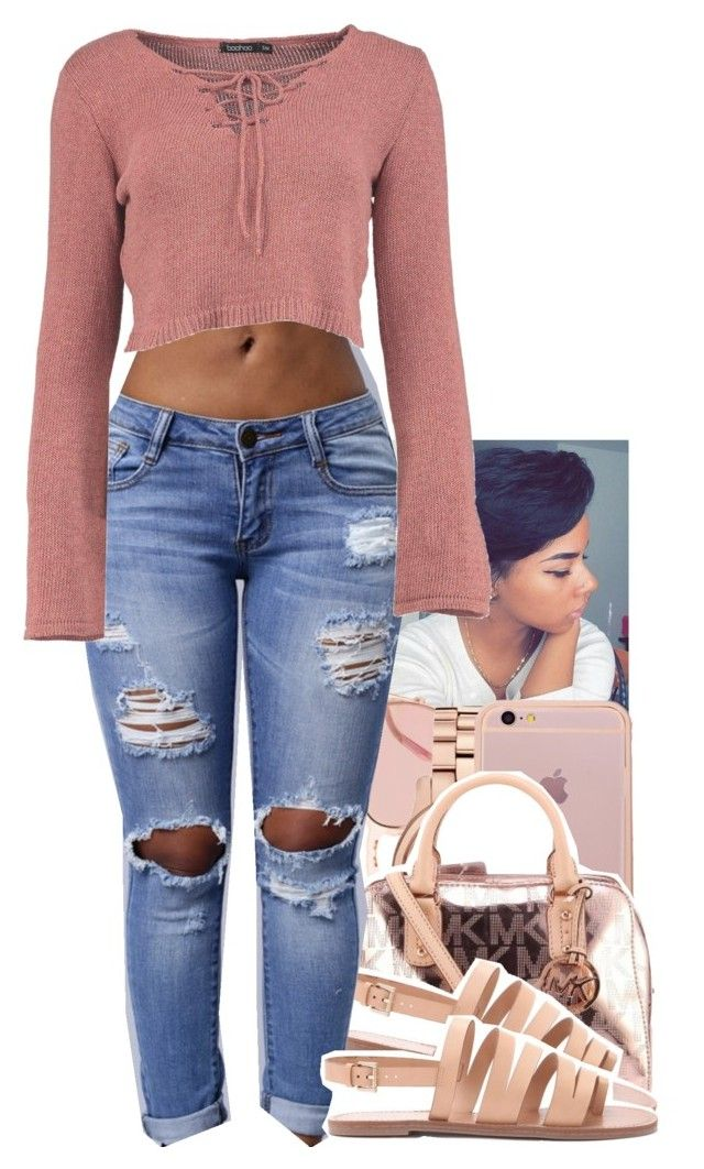 """SC. last day 12"" by toniiiiiiiiiiiiiii ❤ liked on Polyvore featuring Garrett Leight, Michael Kors and Forever 21"