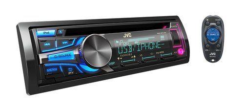 JVC Refurbished Arsenal KD-AR755 Single-DIN Car Stereo w/ Internet Radio, AUX, USB Input and Remote
