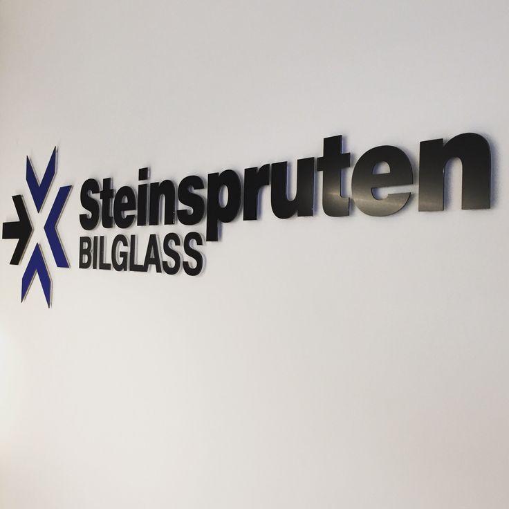 Indoor sign for Steinspruten office in Oslo Norway