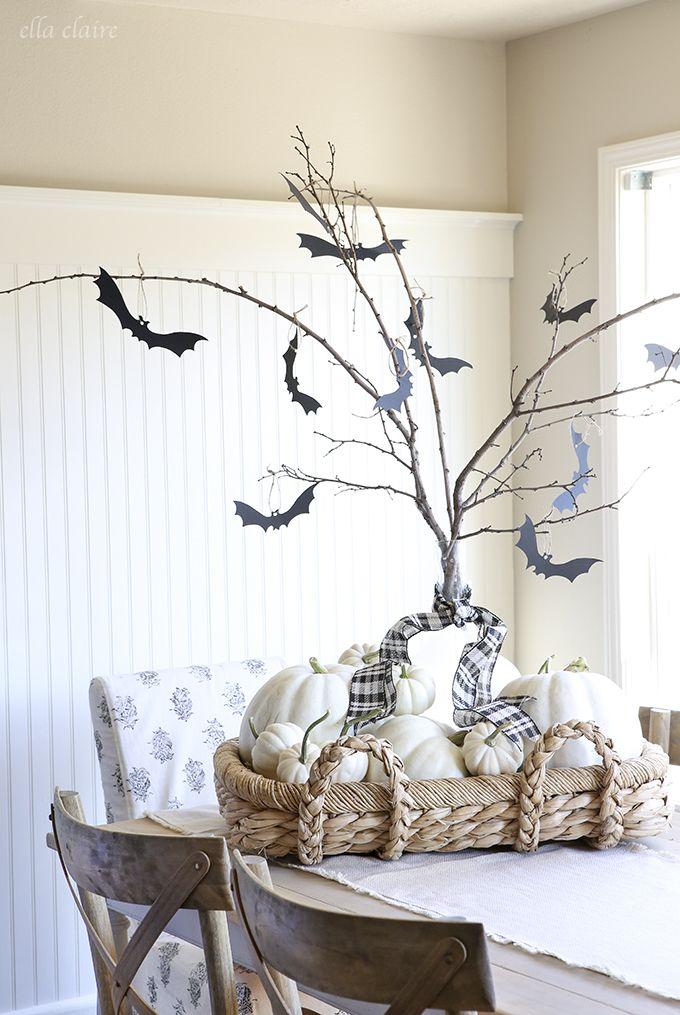 DIY Super Adorable & Easy Halloween Tree With Free Printable Bats