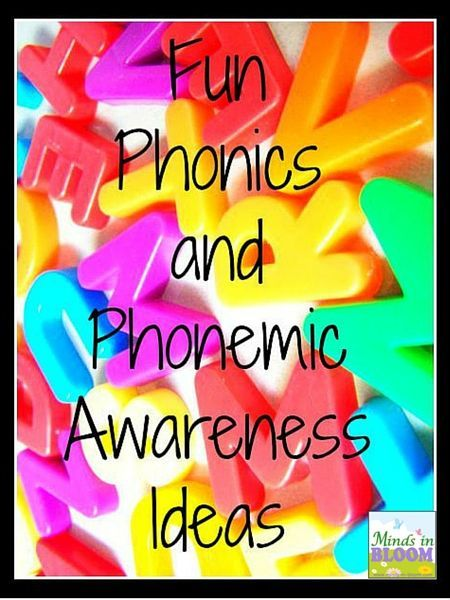 Fun Phonics and Phonemic Awareness Ideas - so many great tips here!!