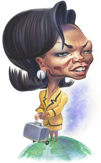 Condoleezza Rice - caricature by John Kascht