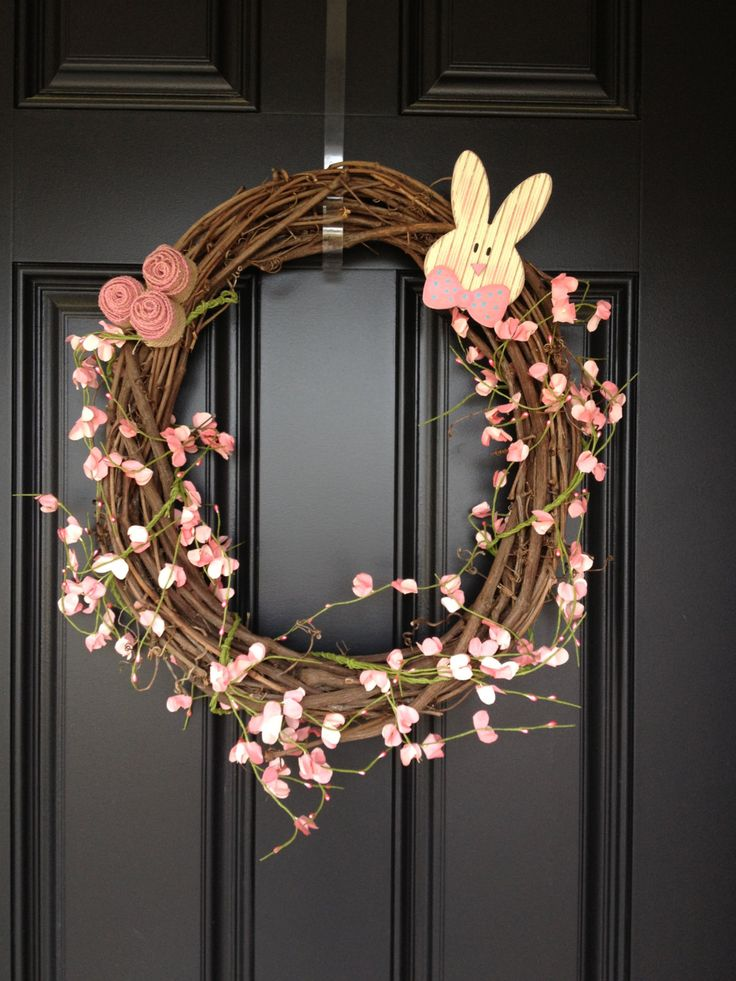 Easter Wreath. $25.00, via Etsy...   i can make this... easily!