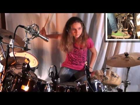 Jump (Van Halen), drum cover by a 14 year old girl - YouTube