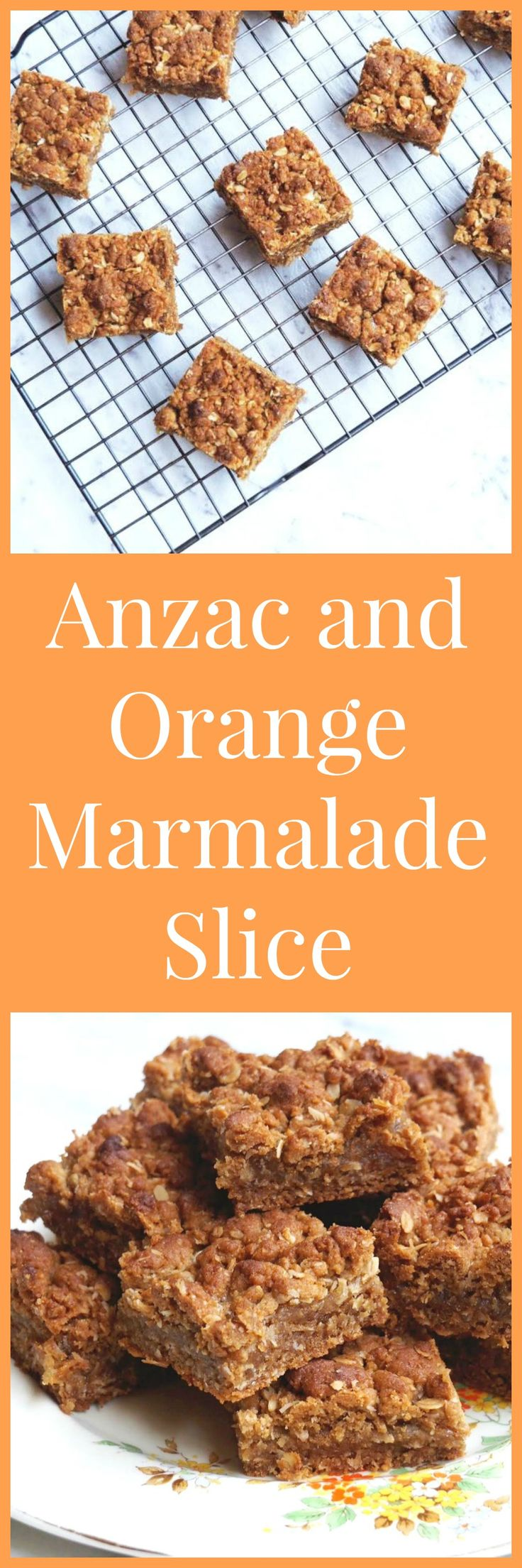 An orange twist on the traditional Anzac. This slice is so nice, Paddington would totally approve!