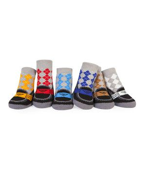 Another great find on #zulily! Argyle Loafer Socks Set by Trumpette #zulilyfinds