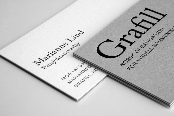 21 best business cards images on pinterest business cards carte business card for the norwegian design association grafill the identity reflects the professional standards of grafill and its members reheart Images