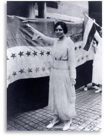 Alice Paul - head of the National Woman's Party