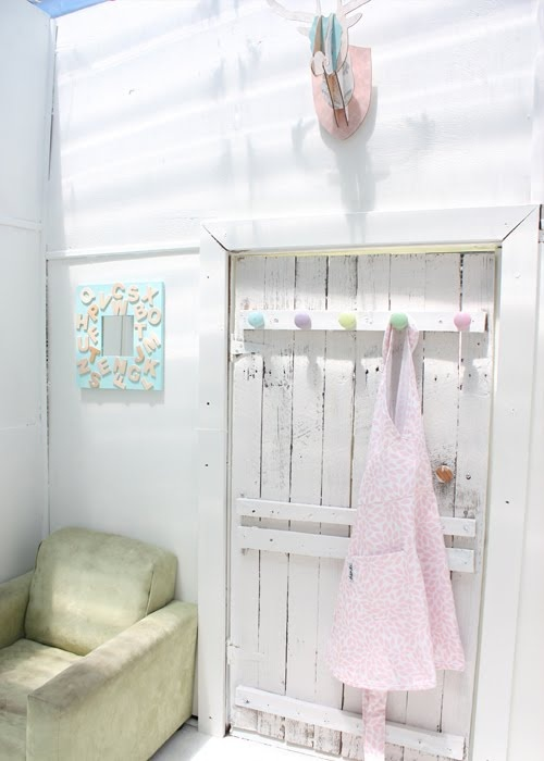 The cubby house just gets cuter