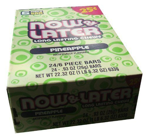 Now and Later Pineapple Flavored Candy Twenty Four 6piece 93 oz Bars by Farleys and Sathers Foods -- Find out more about the great product at the image link.Note:It is affiliate link to Amazon. #commentplease