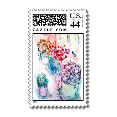 My painting was approved! by U.S. Government for a stamp. YAY! The cool thing is that you can personalize it w/a cool font. Try it! I liked the script fonts. : )