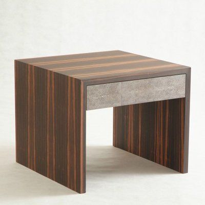 Serge De Troyer Collection Nightstand Color: Bamboo - Burnt Red, Color (Drawer): Apple Sea Green