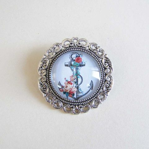 Medium Brooch - Anchor only $5 @ OMG! Cute Kitten - Australian Handmade Jewellery