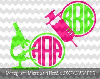 Eagle Monogram Frames .DXF/.SVG/.EPS Files by KitaleighBoutique
