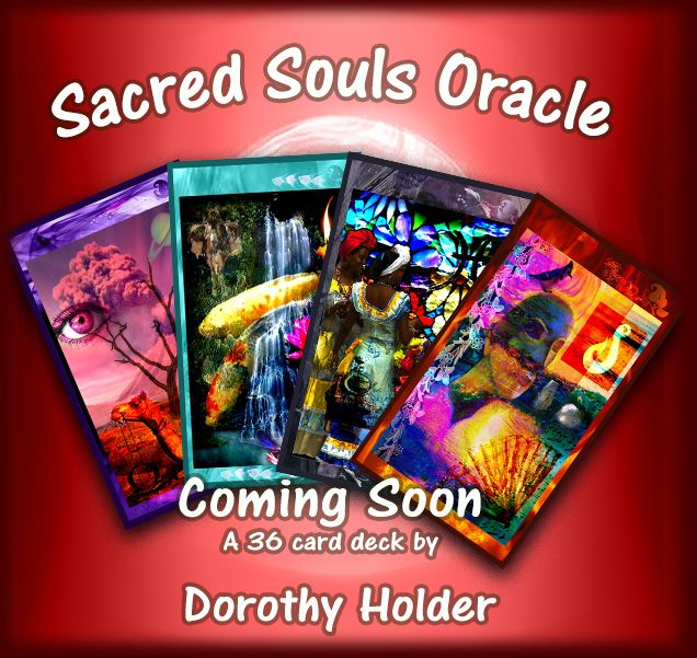 My new Oracle deck in the process of publication, wohoo! You could read these cards without every having looked at the book which personalizes the deck for individual reading styles. It does come with a book explaining the cards and a rich explanation of the symbols used, perfect for deepening your understanding or reading for yourself. modern, relevant you can obtain the depth and complexity with Sacred Souls Oracle that you would with any tarot.