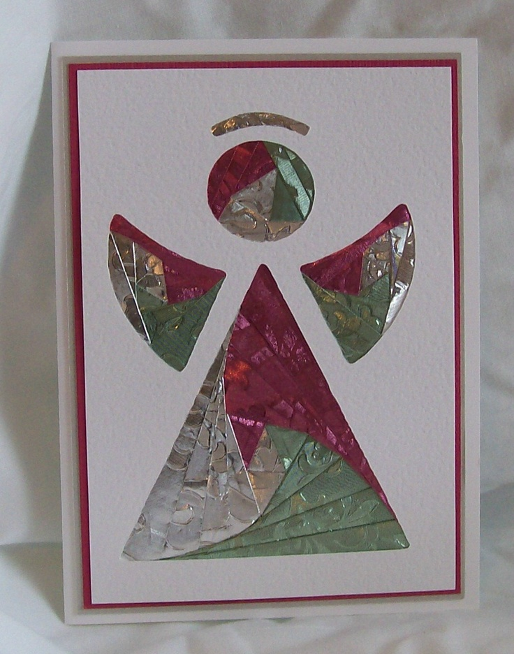 Angel Iris Folded Card.