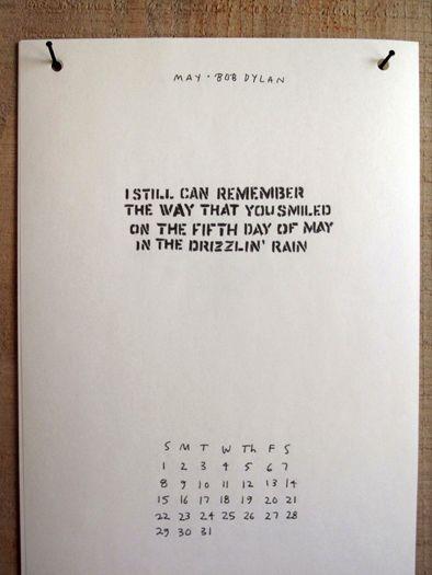 simple calendar w/ random quotes