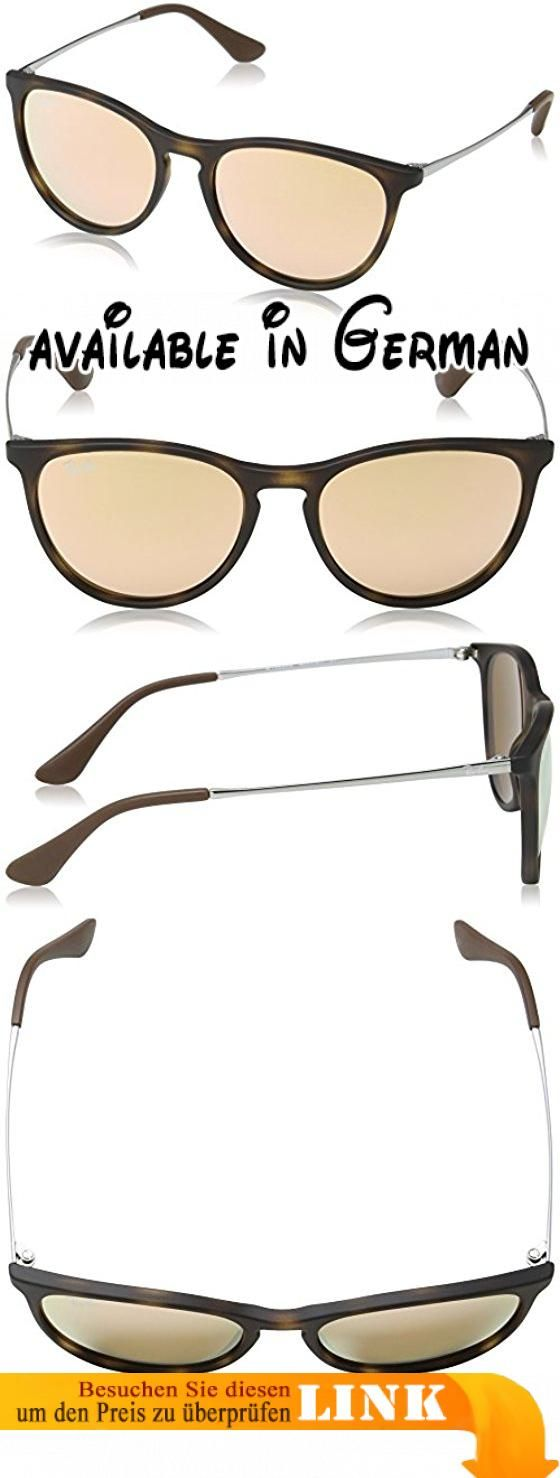 Ray Ban Unisex Sonnenbrille RJ9060S, Gr. Medium (Herstellergröße: 50), Mehrfarbig (Gestell: Havana/Gunmetal, Gläser: Kupfer Verspiegelt 70062Y). Demo lens. Protective case included #Apparel #EYEWEAR