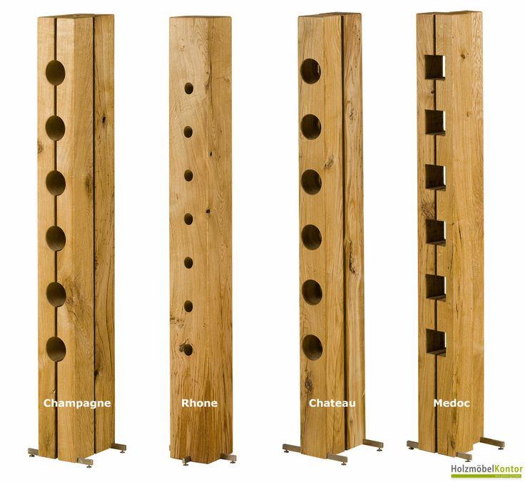 Diese #Weinregale müssen aus Holz sein! Ausgefallene Weinregale von holzmoebelkontor.de. Natur & Designmöbel.