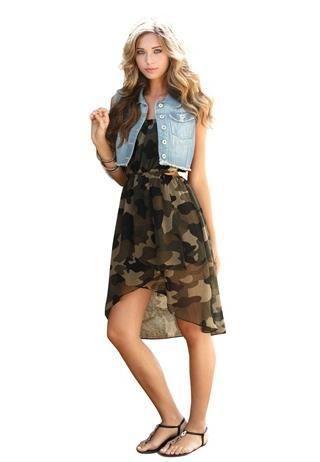 Vestido militar casual, la mejor opción para el día!