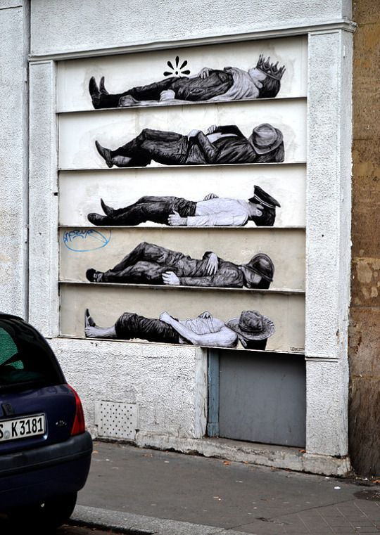 Best Street Art Images On Pinterest - This artists genius work interacts with the streets of new york