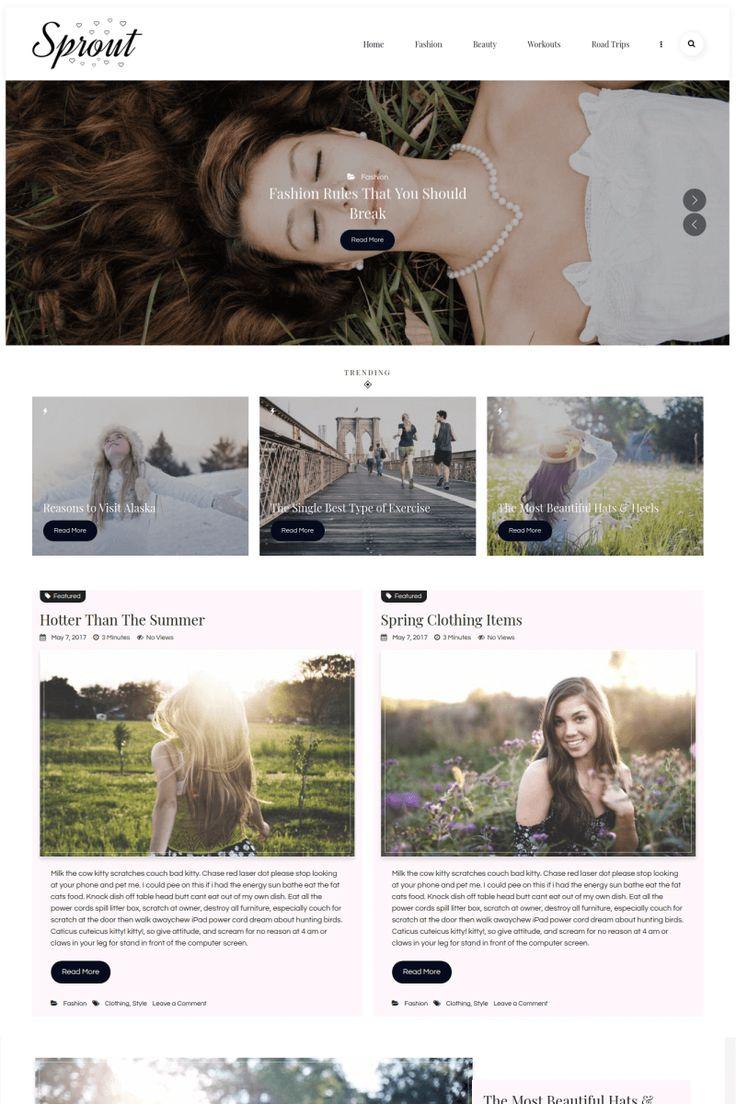 Sprout - Responsive Personal Blog WordPress Theme Big Screenshot