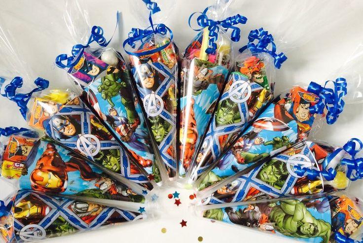 x5-15 Marvel Super Hero Sweet Cones/party cones/party bags/loot bags/goodie bags