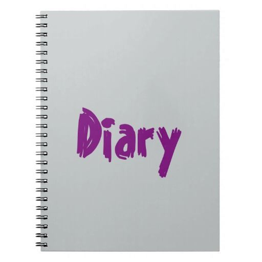 Purple and Grey themed Notebook