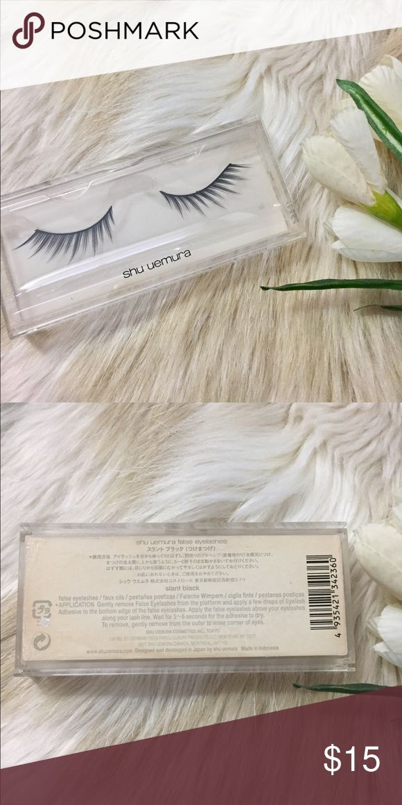 Shu Uemura False Lashes New, never used.  Please note there is water stain on the box from storage.  Box is plastic, lashes are perfectly fine. Sephora Makeup Brushes & Tools
