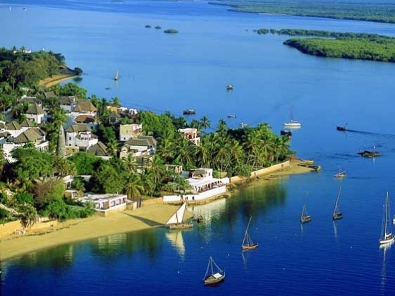 Arial View of Shela Village, Lamu Island